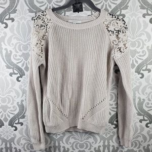 Piperlime lace shoulder knit sweater